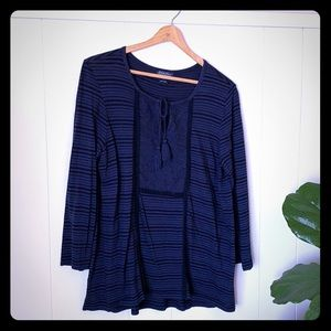Lucky Brand 3/4 sleeve knit blouse